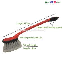 antideslizante mango llanta de coche cepillo fácil para el almacenamiento