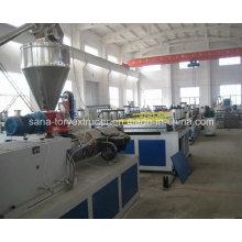 Chaîne de production rigide d'extrusion de panneau de mousse de PVC / WPC Celuka