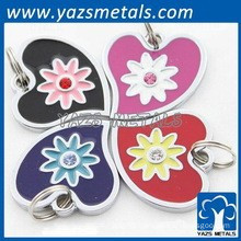 hot sale circle shape custom women dog tags