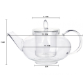 New Loose Teapots With Infuser Heat Resistant