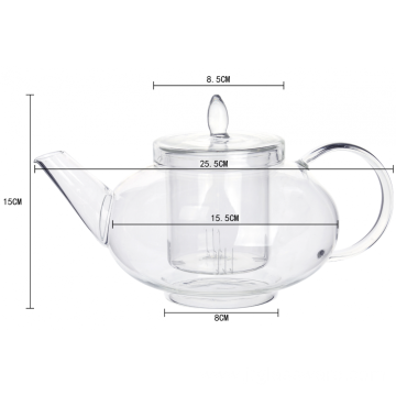 Top for Glass Teapot With Infuser New Loose Teapots With Infuser Heat Resistant export to Heard and Mc Donald Islands Factory