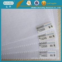 Interlining de polyester pour le collier de chemise