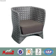 Outdoor modern single sofa synthetic rattan chair with cushion