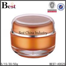 big orange cosmetic jar,big round orange cosmetic jar