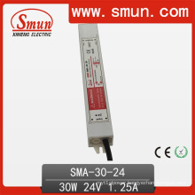 30W 12-24VDC 1.25A LED Driver Waterproof Switching Power Supply