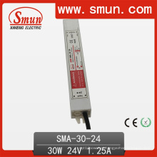 Fonte de alimentação impermeável do interruptor do motorista do diodo emissor de luz de 30W 12-24VDC 1.25A