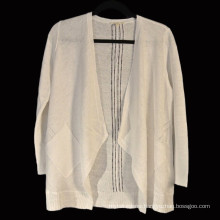 15PKLS06 2016-2017 latest lady 100% linen cardigan sweater