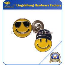Badge de visage rond fait sur commande de sourire
