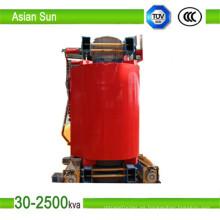 315kVA 630kVA tres fase tipo seco transformador de la distribución (33KV)