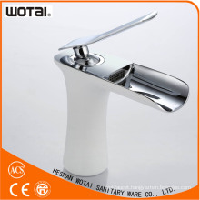Deck Mounted White Color Single Lever Basin Mixer