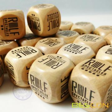 20MM Custom Printing Wooden Dice