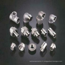 Raccord de tuyau de réducteur de pièce en t d'acier inoxydable (moulage de précision)