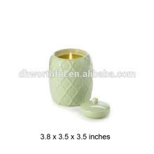 Bocal à la chandelle en céramique en ananas de haute qualité Choix de qualité