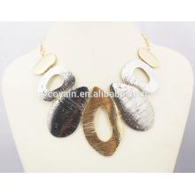 Factory Wholesale African Gold Statement Necklace & Earrings Set Set de bijoux