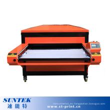 Operación fácil Máquina de transferencia de calor de doble estación neumática
