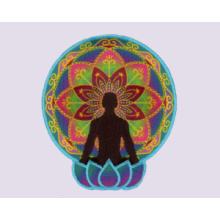 Remiendo del deporte de la yoga de la sublimación del bordado