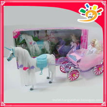 Doll horse carriage B/O toy