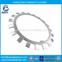 Chinesischer Lieferant Bester Preis DIN 5406 Kohlenstoffstahl / Edelstahl Sicherungsscheiben und Verriegelungsplatten mit verzinktem / HDG