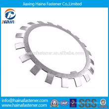 Fournisseur chinois Meilleur prix DIN 5406 Acier au carbone / Acier inoxydable Rondelles de verrouillage et plaques de blocage Avec Zinc plaqué / HDG