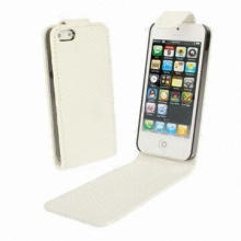 Vertical Flip Soft Leather Case for iPhone 5