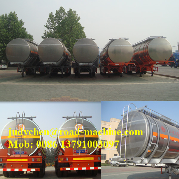 40000L Aluminum Cooking Oil ناقلة مقطورة