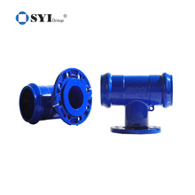 Ductile Iron Elbow Cross Flanged Pipe Fittings for sewerage pipeline projects