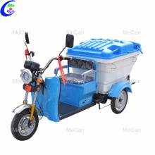 Recolección de basura y transporte tipo triciclo eléctrico
