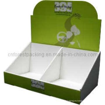 Caja de exhibición ondulada de la impresión modificada para requisitos particulares de la venta caliente