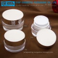 Hot-selling competitive price beautiful round shape good quality high end cosmetics packaging acrylic jars and bottles