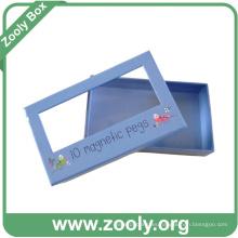Pequeña caja de regalo de papel con caja de regalo de embalaje de ventana / papel