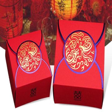 Red Wedding Celebration Candy Box
