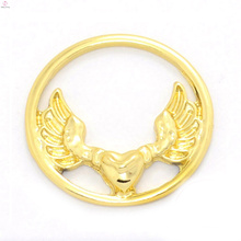 Fancy 22m gold alloy window eagle plates jewelry design for glass memory floating charms locket