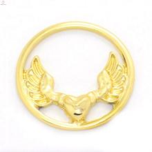 Fantasia 22 m liga de ouro janela águia placas de design de jóias para a memória de vidro encantos flutuante medalhão