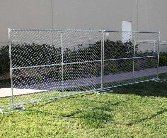 Chain Link Wire Mesh Portable Temporary Fence