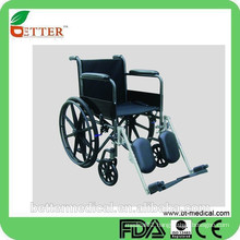 Steel manual wheelchair for outdoor travel use