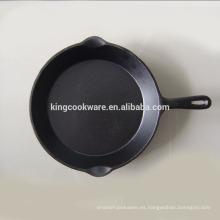 Sartén / sartén de huevo vegetal / sazonador de huevo de hierro fundido pre sazonado utilizado en cocina