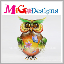Cheap Spring Colored Owl Metal Decoración de la pared