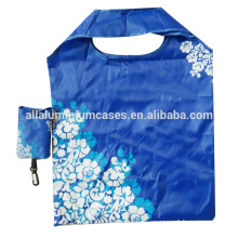 Blue foldable trolley bag/foldable polyester shopping bags green