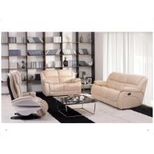 Sofá reclinável elétrico de sofá de couro genuíno em couro (850)