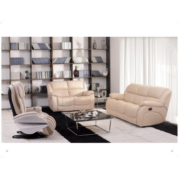 Echtes Leder Chaise Leder Sofa Elektrisch Verstellbares Sofa (850)