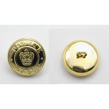 Good Quality Customized Logo Embossed Military Button for Army Uniform