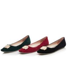 women square toe pump no heel flat shoe