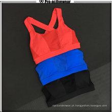 OEM Fabricantes Youth Fitness Lace Mesh acolchoado Sport Bra