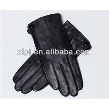 Mann Mode Fleece gefüttert Leder Handschuhe mit Nähmaschine