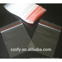 PE clear plastic zipper bag