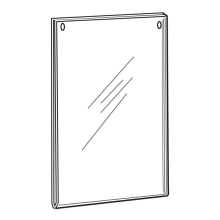 Clear Acrylic Large Vertical Hanging Sign Holders