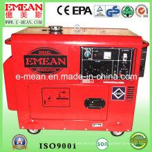 Gerador diesel à prova de som de 7kVA Three-Phase com garantia