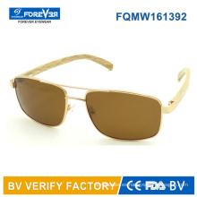 Fqmw161392 alta calidad para hombre estilo gafas de sol templo de bambú