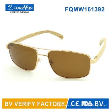 Fqmw161392 hoher Qualität Mens Style Sonnenbrille Bambus Tempel