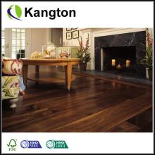 Suelo de madera sólida de la superficie plana de la nuez natural de calidad superior (suelo de madera sólida)